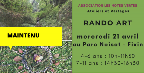 RANDO ART // Les Notes vertes // Fixin Parc Noisot // 4-11 ans